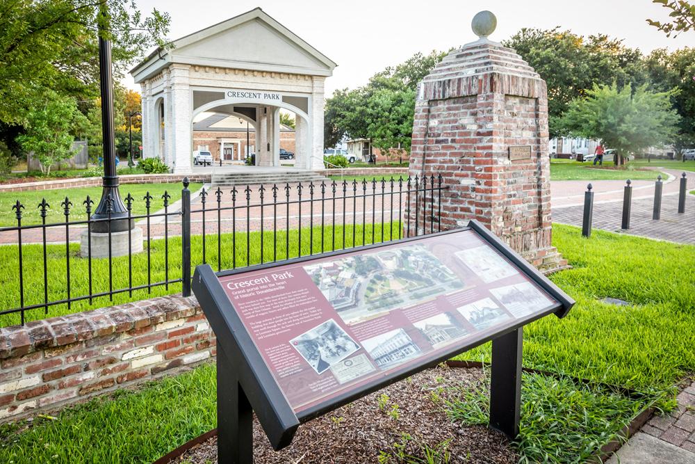 Crescent Park in Donaldsonville in Louisiana's Sweet Spot